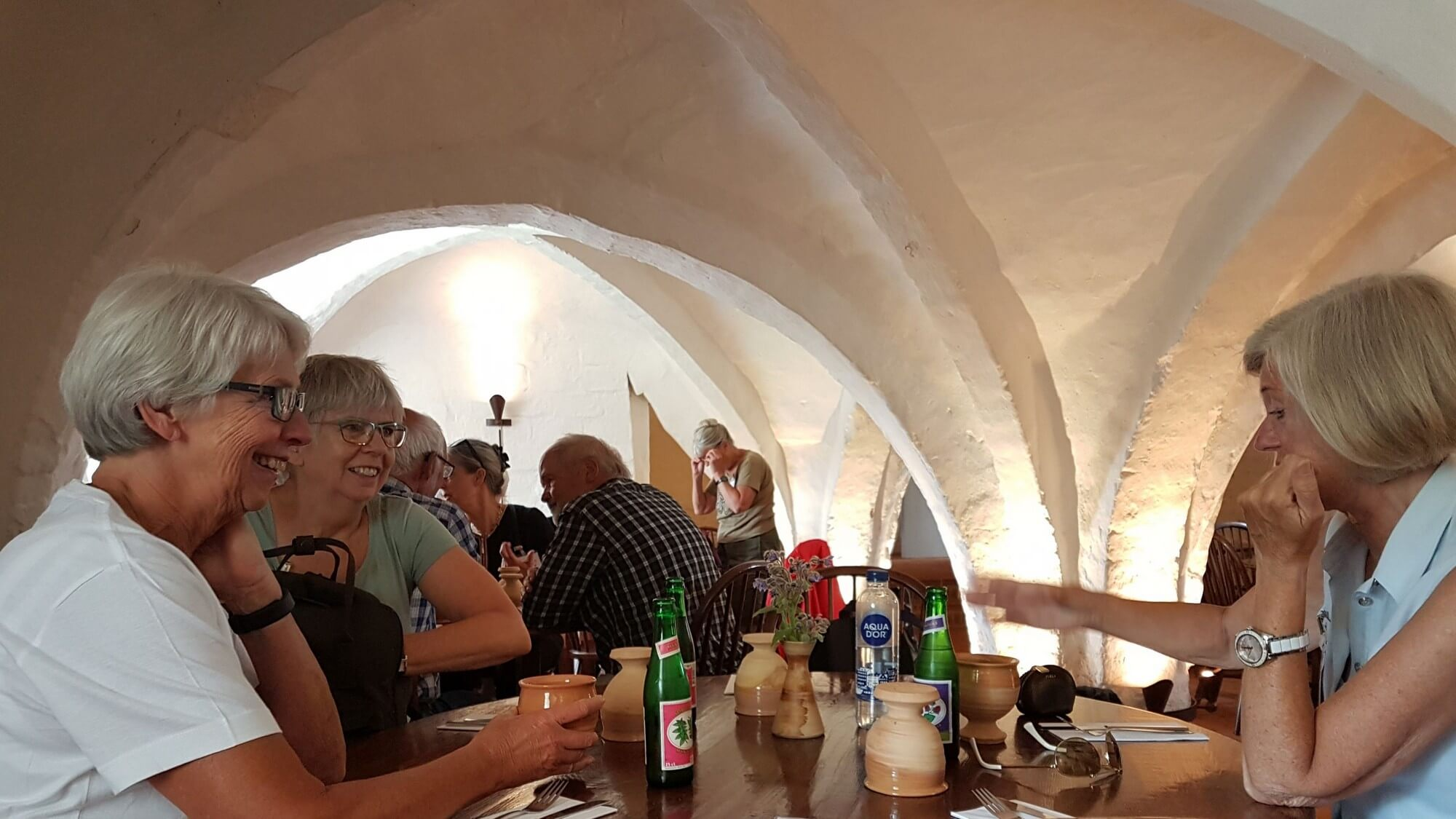 Esrum Kloster cafe i kælderen